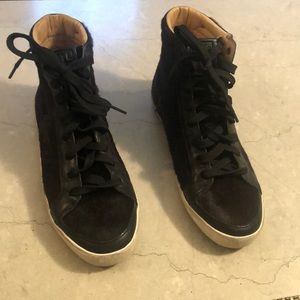 Frye hightop cow hair sneakers